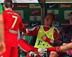 Ribery Robben'i Yumrukladı