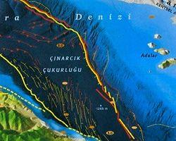Marmara Denizi'nde Az Önce 7.7 Km Derinlikte Deprem Oldu