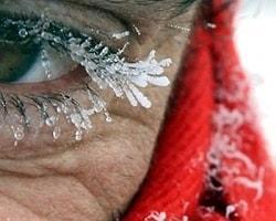 Kirpik donduran Sibirya soğukları