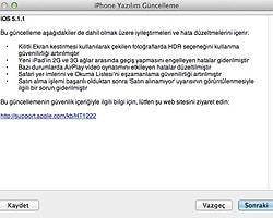 iPad, iPhone ve iPod için iOS 5.1.1 Güncellemesi Yayınlandı