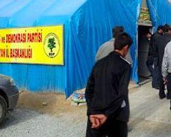 BDP Çadırında Taciz Kavgası