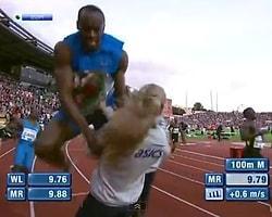 Usain Bolt Koşarken Duramadı, Kızı Böyle Ezdi!