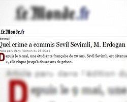 Le Monde'dan Erdoğan'a: 'Sevil Sevimli'nin Suçu Ne?'