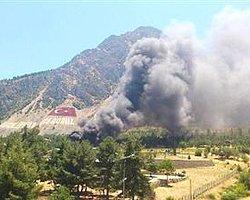 Dağ komando okulunda yangın