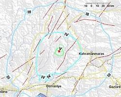 Kahramanmaraş'ta 5 Büyüklüğünde Deprem