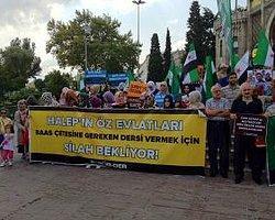 Beyazıt Meydanında Esed Protestosu