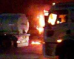 Ağrı Ve Tatvan'da Şantiye Basan Teröristler 18 Aracı Yaktı