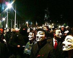 Anonymous'dan Londra'da Dev Vendetta Operasyonu!