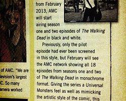 Amc The Walking Dead'i Siyah Beyaz Yayınlayacak