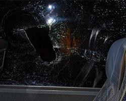 Galatasaray'a Trabzon'da Taşlı Saldırı