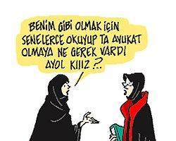 Milliyet'te Tepki Çeken Başörtüsü Karikatürü