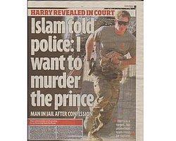 Müslüman Fanatik,  Prens Harry'i Öldürme Planıyla Hapiste !