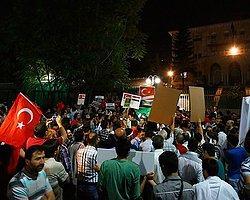 Mısır'ın Ankara Büyükelçiliği Önünde Mursi'ye Destek Gösterisi
