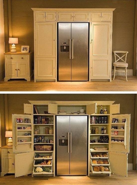 Встроенный шкаф в холодильник своими руками