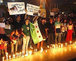 BM Binası Önünde Suriye Protestosu