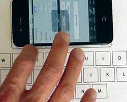 İphone'a Kağıt Klavye!