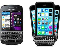 BlackBerry'den klavyeli iPhone'a dava!