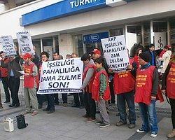 """İPSD, İzmir'de """"Asgari Ücret"""" ve zamları protesto etti"""