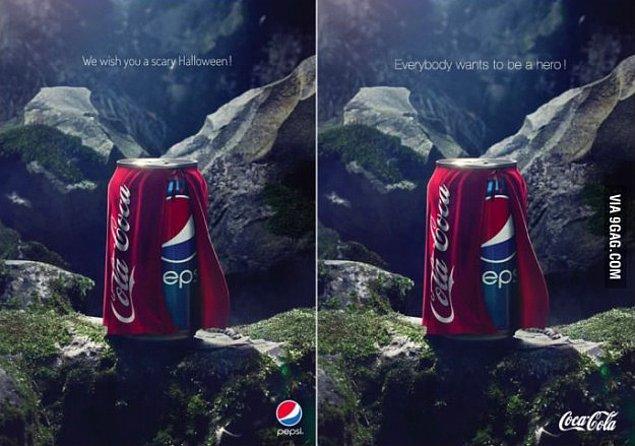 3. Pepsi ve Coca Cola'nın geçtiğimiz Hallowen atışması.