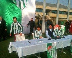 Bursaspor'dan 3 İmza Birden!