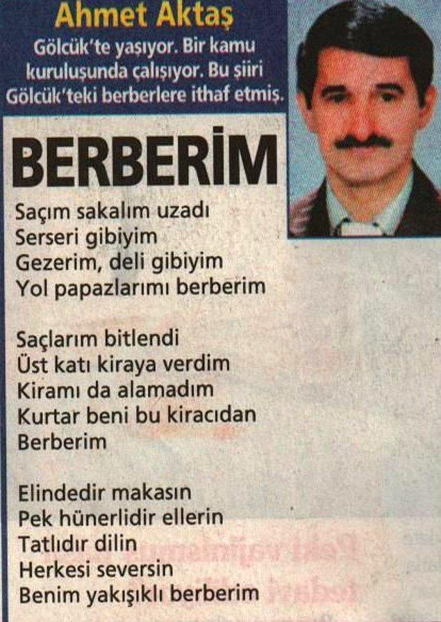 11. Berberine şiiir yazan kamusal şair.