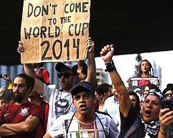Brezilya'da 'Dünya Kupası'na Hayır' Protestosu