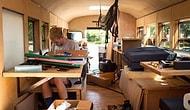 Okul Otobüsünü Mobil Eve Dönüştüren Öğrenciler ABD Turunda