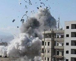 Esad'ın Varil Bombalı Saldırı Görüntüleri
