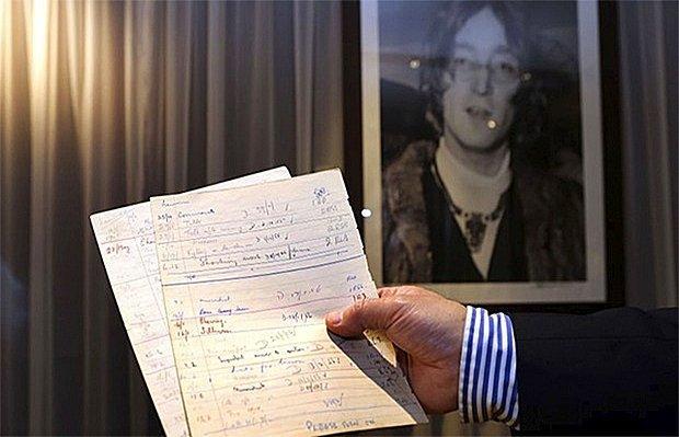 John Lennon'ın Eşyaları Açık Artırmaya Çıkıyor