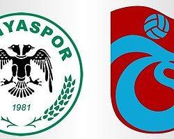 Torku Konya-Trabzon İlk 11'ler Belli Oldu