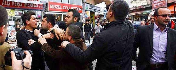 Rize'de MHP Yürüyüşünde 'Akıl Hastası' Gerginliği