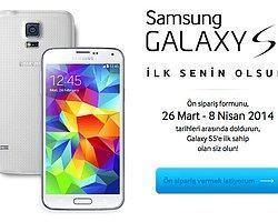 Samsung Galaxy S5 Ön Satışa Çıktı