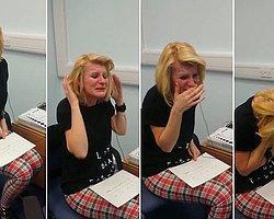 Doğuştan sağır kadın ilk defa duymaya başlayınca gözyaşlarına boğuldu.