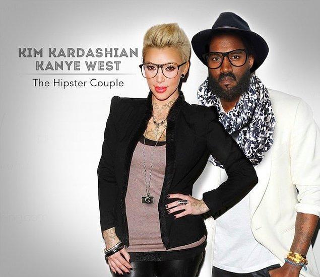 4. Kim Kardashian & Kanye West