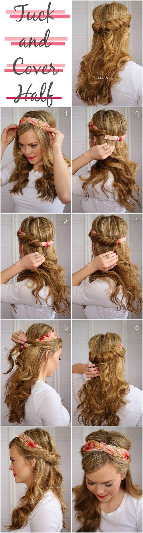 5 Dakikada Yapılacak Saç Modelleri