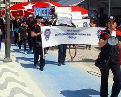 Polis Eşleri Özlük Hakları İçin Yürüdü