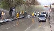 Polis Ankara'da Yatağan İşçilerine Müdahale Etti