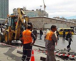 1 Mayıs Öncesi Taksim'de İnşaat...