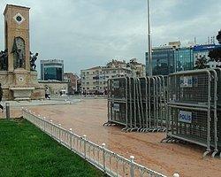 Taksim'e Polis Bariyerleri Getirildi