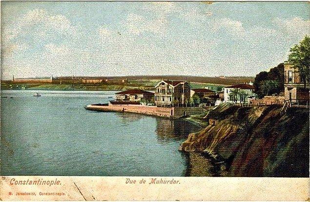 Kadıköy, Mühürdar, arka planda Selimiye. 1900 ler.