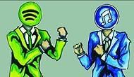 Online Müzik Dinleme Servislerinde Spotify, iTunes'u Geçti