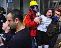 Ateşli silahlarla atılan biber gazı çocukları da hedef aldı