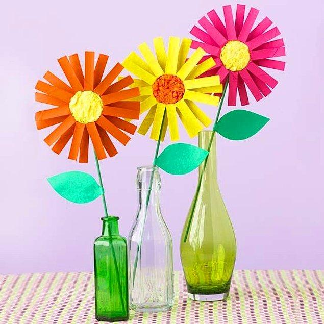 9. Karton Çiçekler