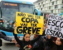 Brezilya'nın Antremanları Protestolarla Başladı