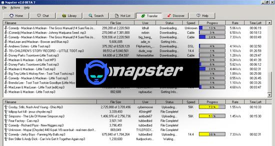 an analysis of the napster technology and mp3 sharing online