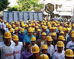 Soma'da Madencilerin Sessiz Yürüyüşü