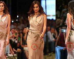 Irina Shayk'ın Elbisesi Podyumda Yırtıldı!