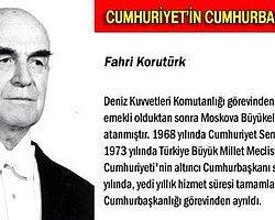 13 Mart- 6 Nisan 1973: T.C. 6. Cumhurbaşkanı Fahri Korutürk