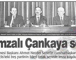 5 Mayıs 2000: Ahmet Necdet Sezer