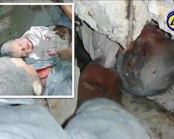 Halep'te 2 Aylık Bebek Enkazdan Sağ Çıkarıldı